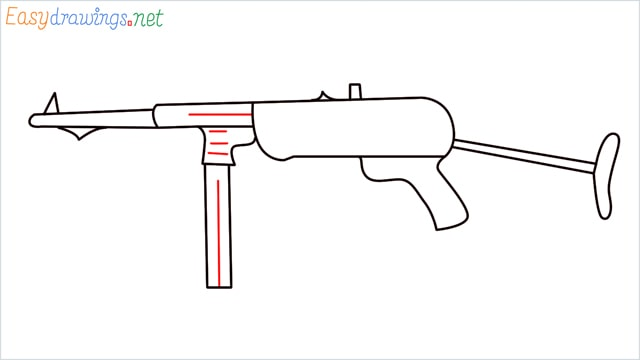 how to draw mp40 step (7)
