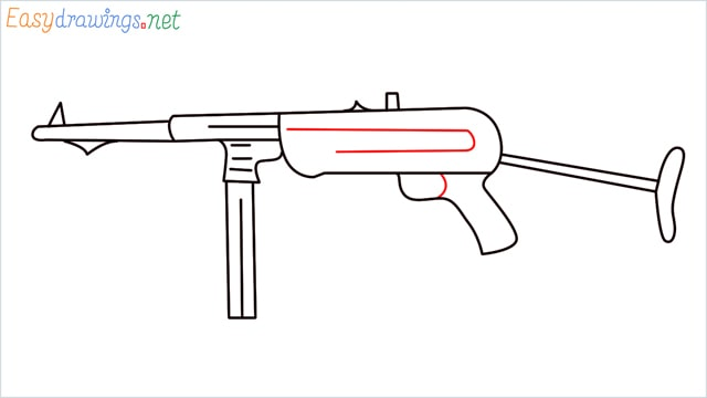 how to draw mp40 step (8)