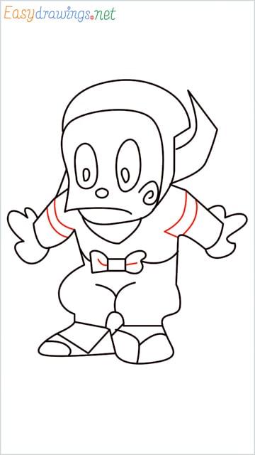 how to draw ninja hattori step (12)