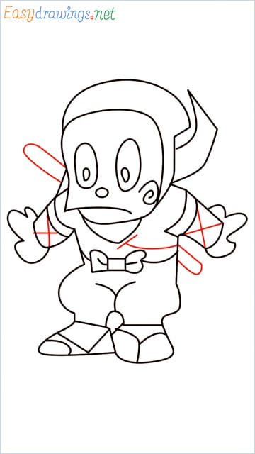 how to draw ninja hattori step (13)