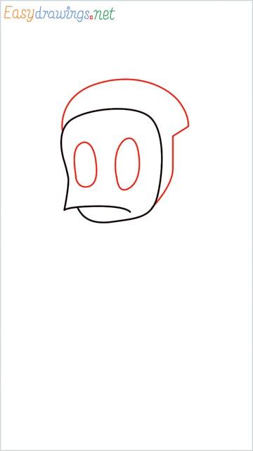 how to draw ninja hattori step (3)