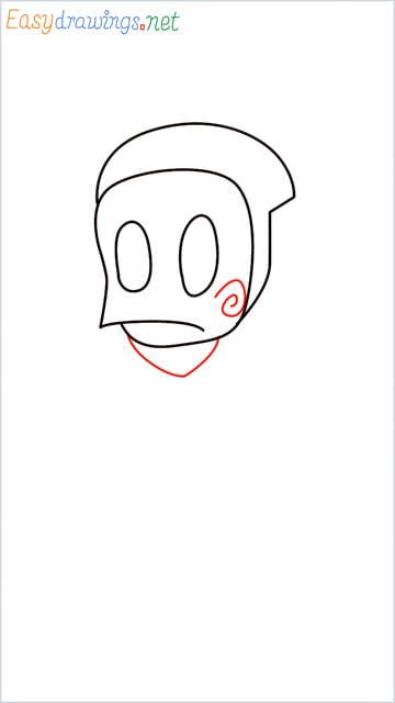 how to draw ninja hattori step (4)