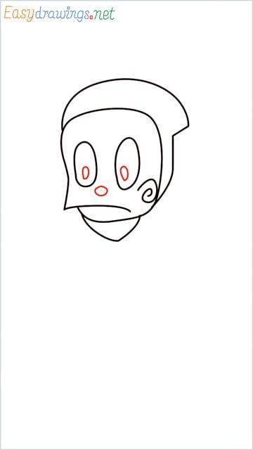 how to draw ninja hattori step (5)