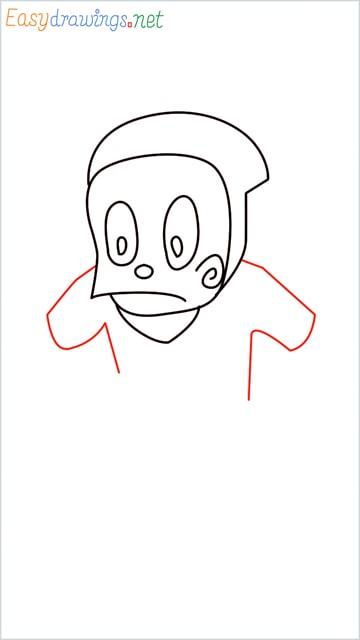 how to draw ninja hattori step (6)