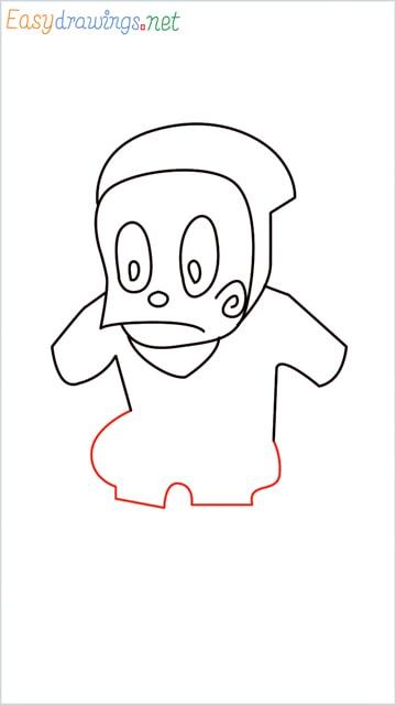 how to draw ninja hattori step (7)