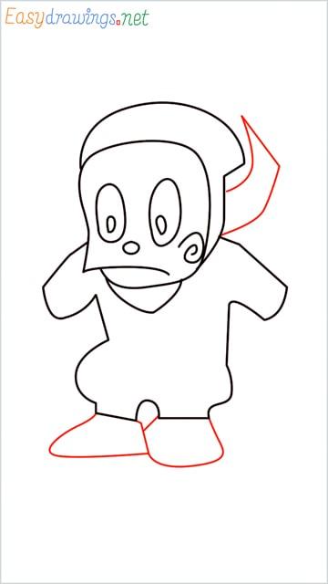 how to draw ninja hattori step (8)