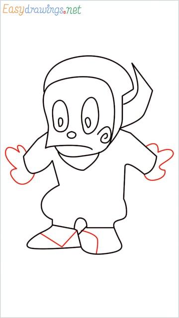 how to draw ninja hattori step (9)