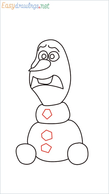 how to draw olaf step (11)