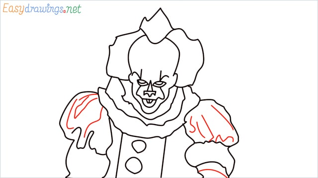 how to draw pennywise step (18)