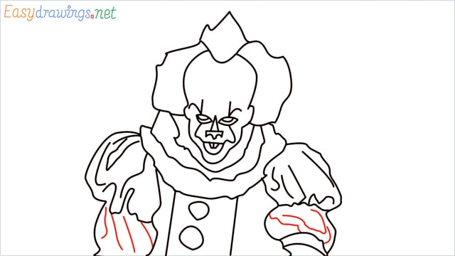 how to draw pennywise step (19)