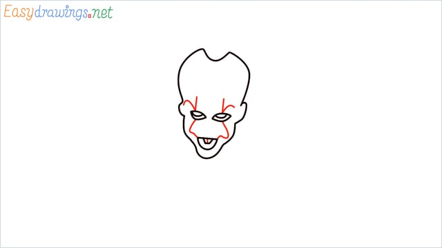 how to draw pennywise step (6)