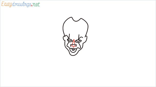 how to draw pennywise step (8)