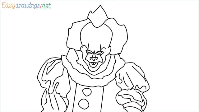 how to draw pennywise step by step for beginners