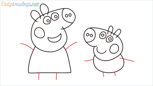 how to draw peppa pig step (10)