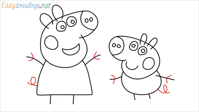 how to draw peppa pig step (11)
