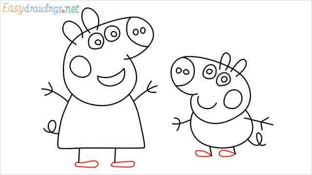 how to draw peppa pig step (12)