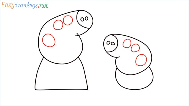 how to draw peppa pig step (6)