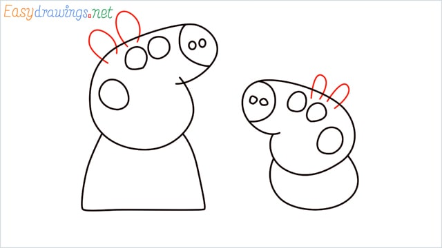 how to draw peppa pig step (7)