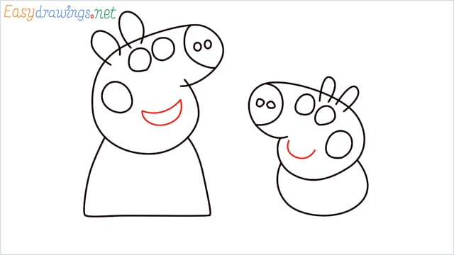 how to draw peppa pig step (8)