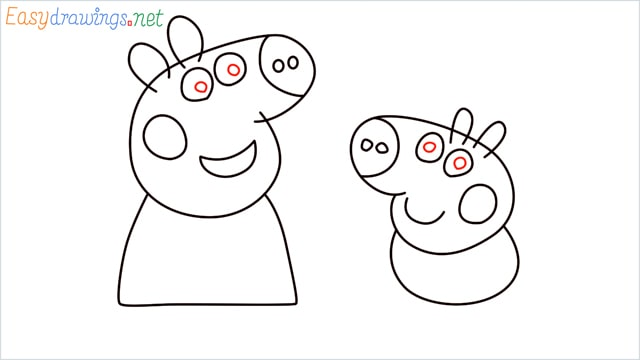 how to draw peppa pig step (9)