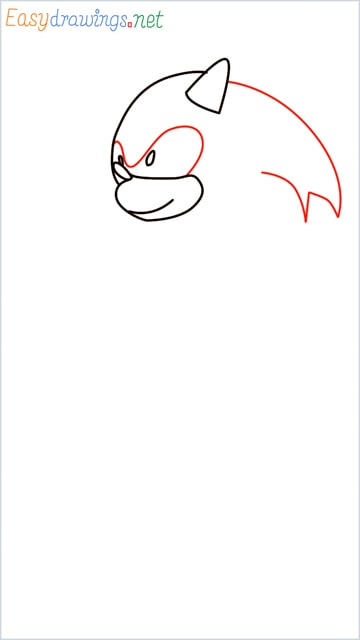 how to draw sonic the hedgehog step (5)