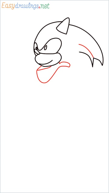 how to draw sonic the hedgehog step (6)