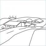 village drawing
