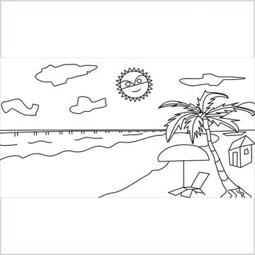 Beach drawing