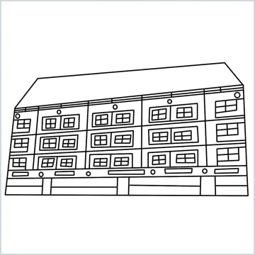 High-rise building drawing