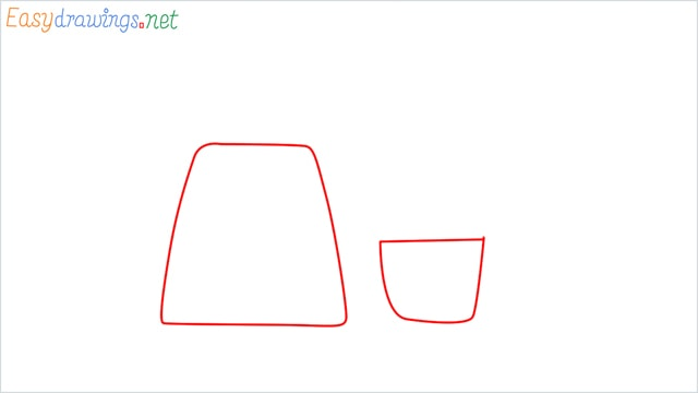 How to draw Electric mixer grinder step (1)