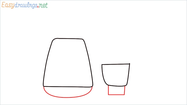 How to draw Electric mixer grinder step (2)
