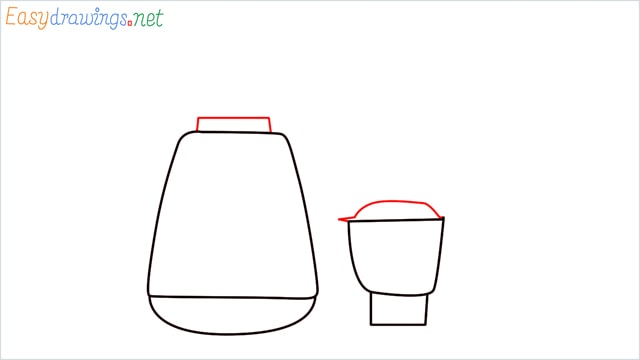 How to draw Electric mixer grinder step (3)