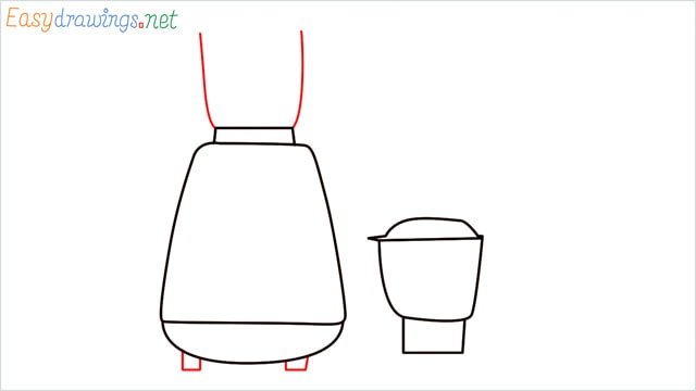 How to draw Electric mixer grinder step (4)