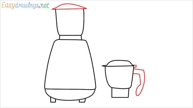 How to draw Electric mixer grinder step (5)