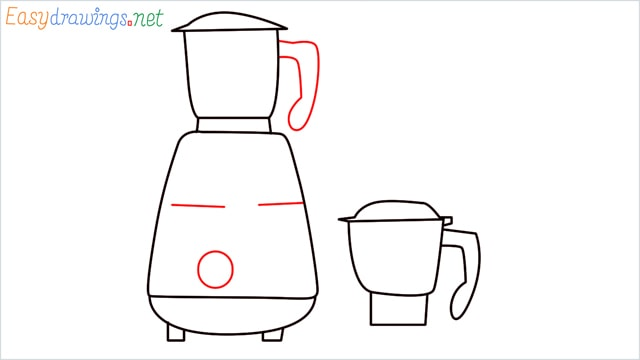 How to draw Electric mixer grinder step (6)
