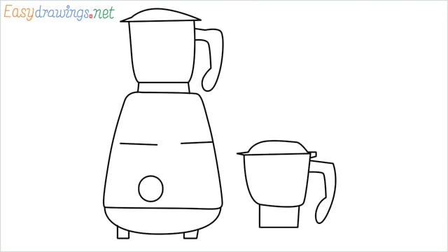 How to draw Electric mixer grinder step by step