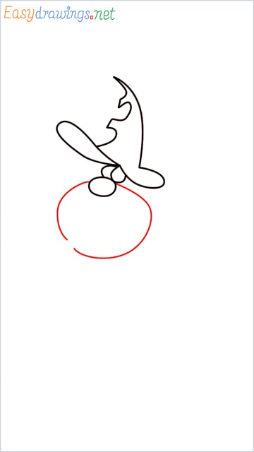 How to draw Oggy brother Jack step (4)