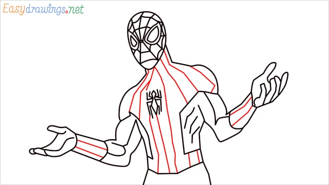 How to draw Spiderman step (15)