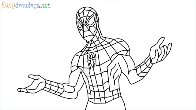 How to draw Spiderman step by step for beginners