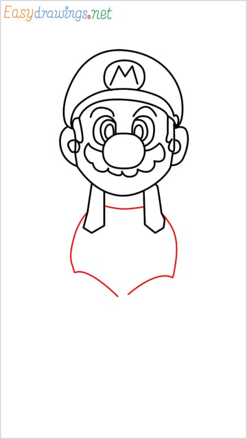 How to draw Super Mario step (10)