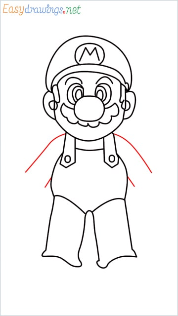How to draw Super Mario step (12)