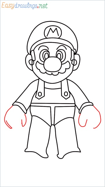 How to draw Super Mario step (14)