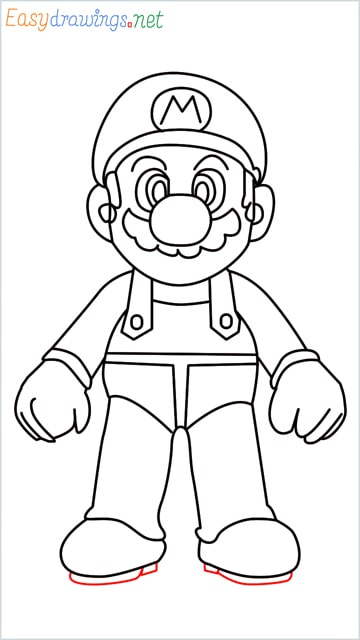 How to draw Super Mario step (16)