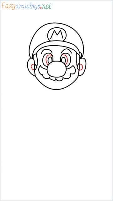 How to draw Super Mario step (8)