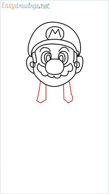 How to draw Super Mario step (9)