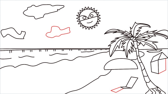 How to draw a Beach step (12)