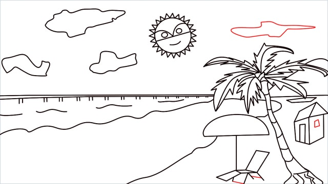 How to draw a Beach step (14)