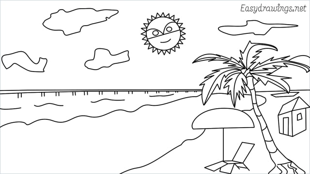 How to draw a Beach step (15)