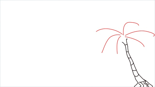How to draw a Beach step (3)