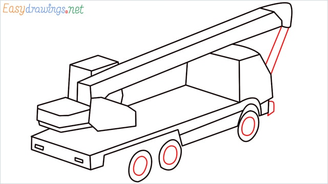 How to draw a Crane truck step (10)